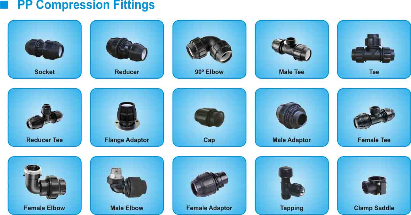 Fitting COmpression Joint Mechanical Joint Fitting Hdpe